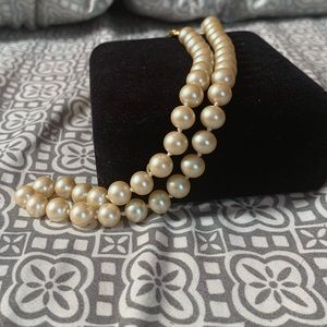 Vintage Faux Pearl Strand Necklace